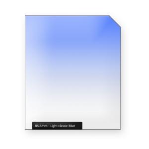 Light classic BLUE graduated color filter