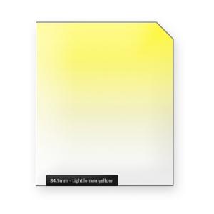 Light lemon YELLOW graduated color filter
