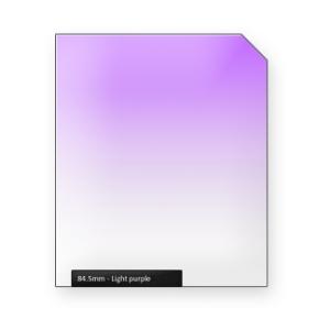 Light PURPLE graduated color filter