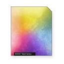 Hippie rainbow white scratch