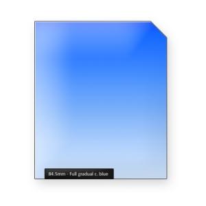Full gradual classic BLUE graduated color filter