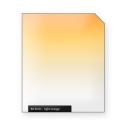 Light ORANGE graduated color filter