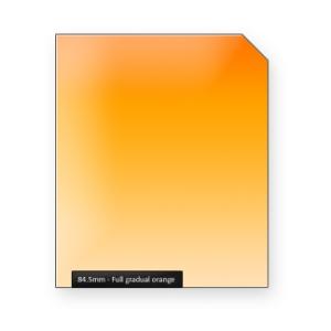 Full gradual ORANGE graduated color filter