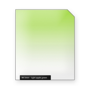 Light apple GREEN graduated color filter