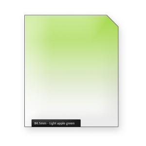 Light apple GREEN graduated color filter