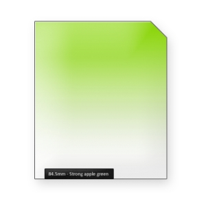 Strong apple GREEN graduated color filter