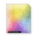 Hippie rainbow light white scratch