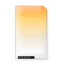 Light orange Professional line graduated camera filter, square